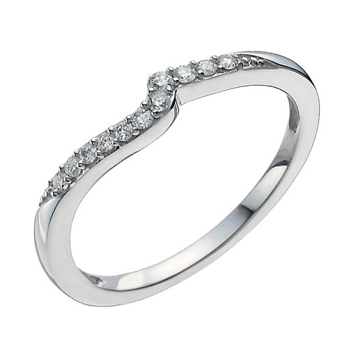 9ct White Gold Shaped Diamond Ring - Product number 9962670
