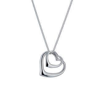 Sterling silver double open heart pendant - Product number 9967133