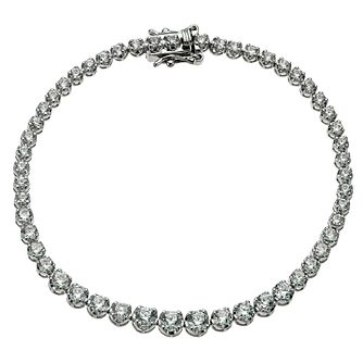 Sterling Silver Cubic Zirconia Tennis Bracelet - Product number 9967699