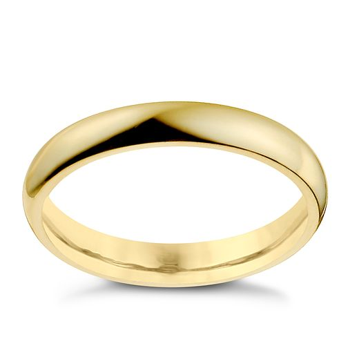 9ct Yellow Gold 3mm Super Heavy Court Ring - Product number 9969004
