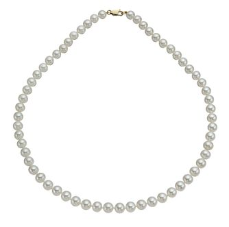 9ct Yellow Gold Cultured Freshwater Pearl Strand Necklace - Product number 9974237