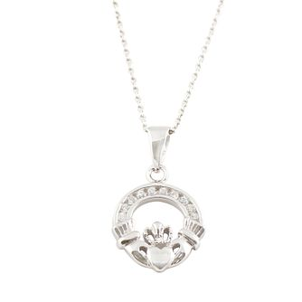 Cailin Sterling Silver & Cubic Zirconia Claddagh Pendant - Product number 9974652