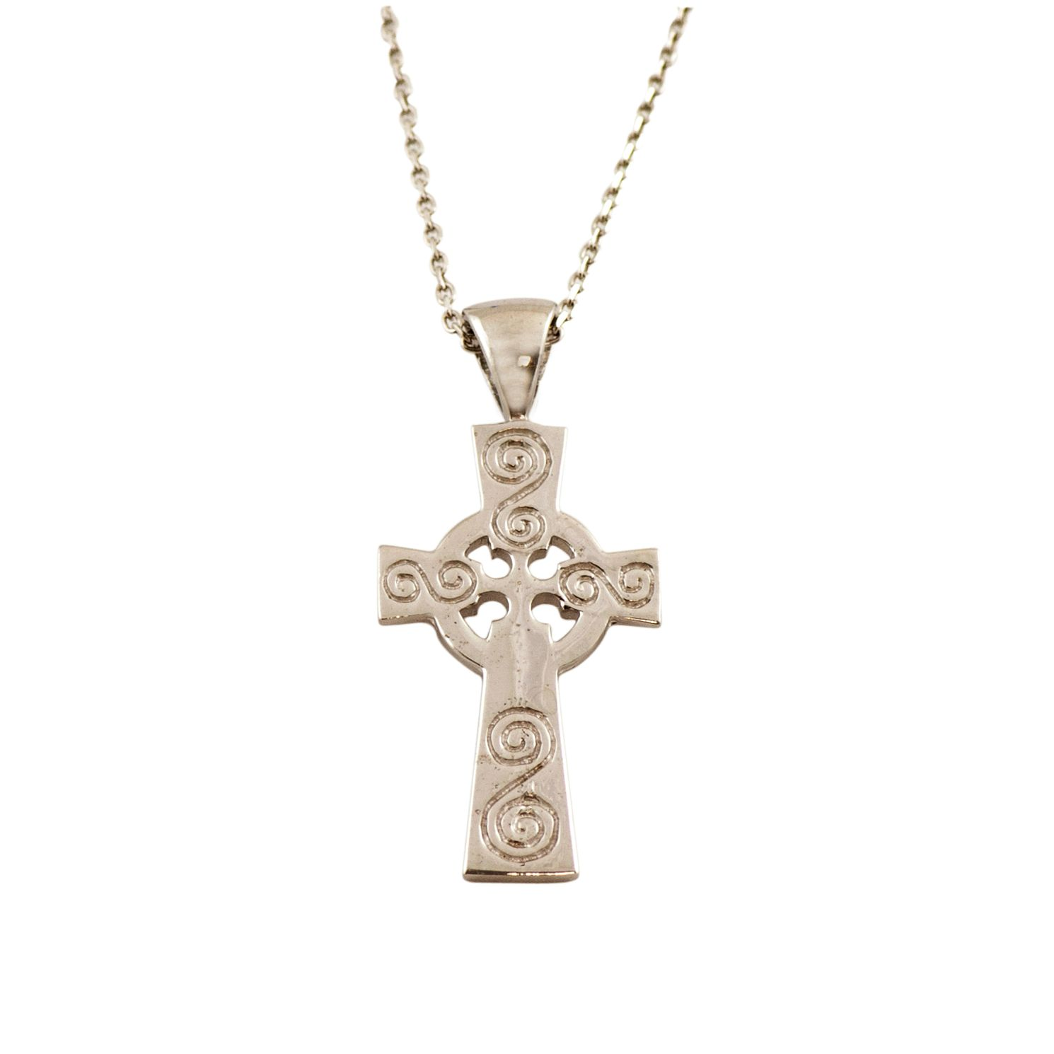 Cailin Sterling Silver Celtic Cross Pendant Necklace - Product number 9974768
