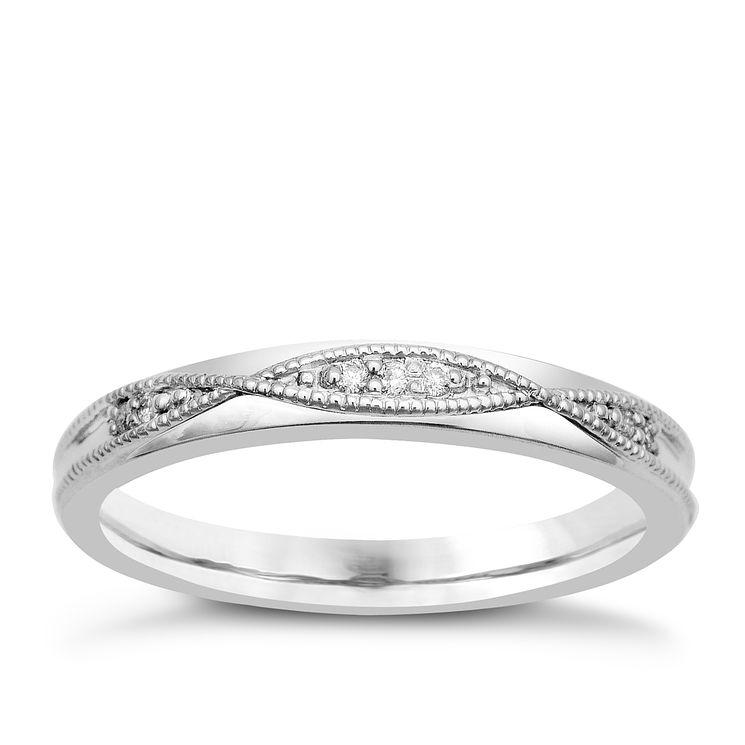 Palladium & Diamond Perfect Fit Eternity Ring