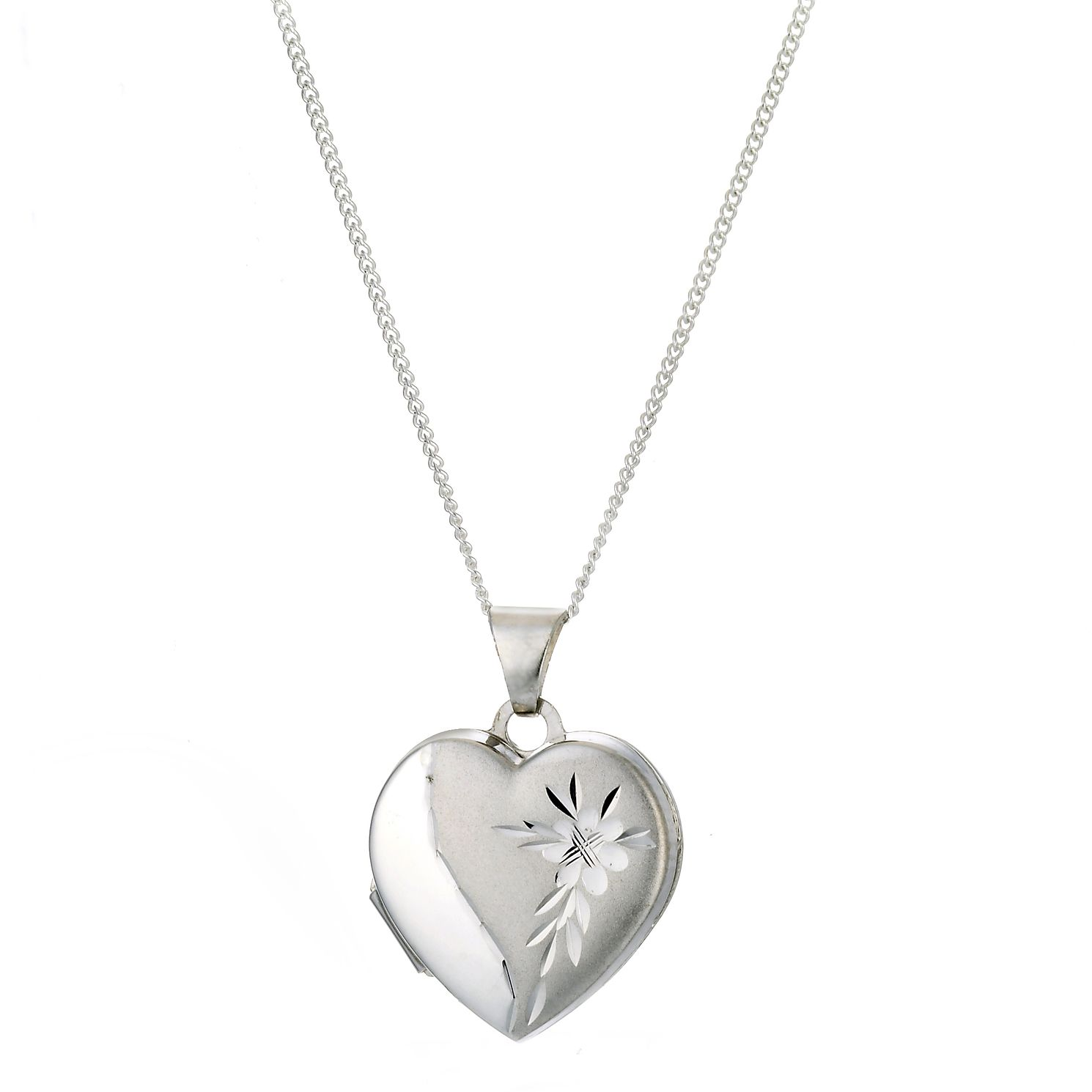 Sterling Silver Satin & Polished Diacut Locket - Product number 9994971