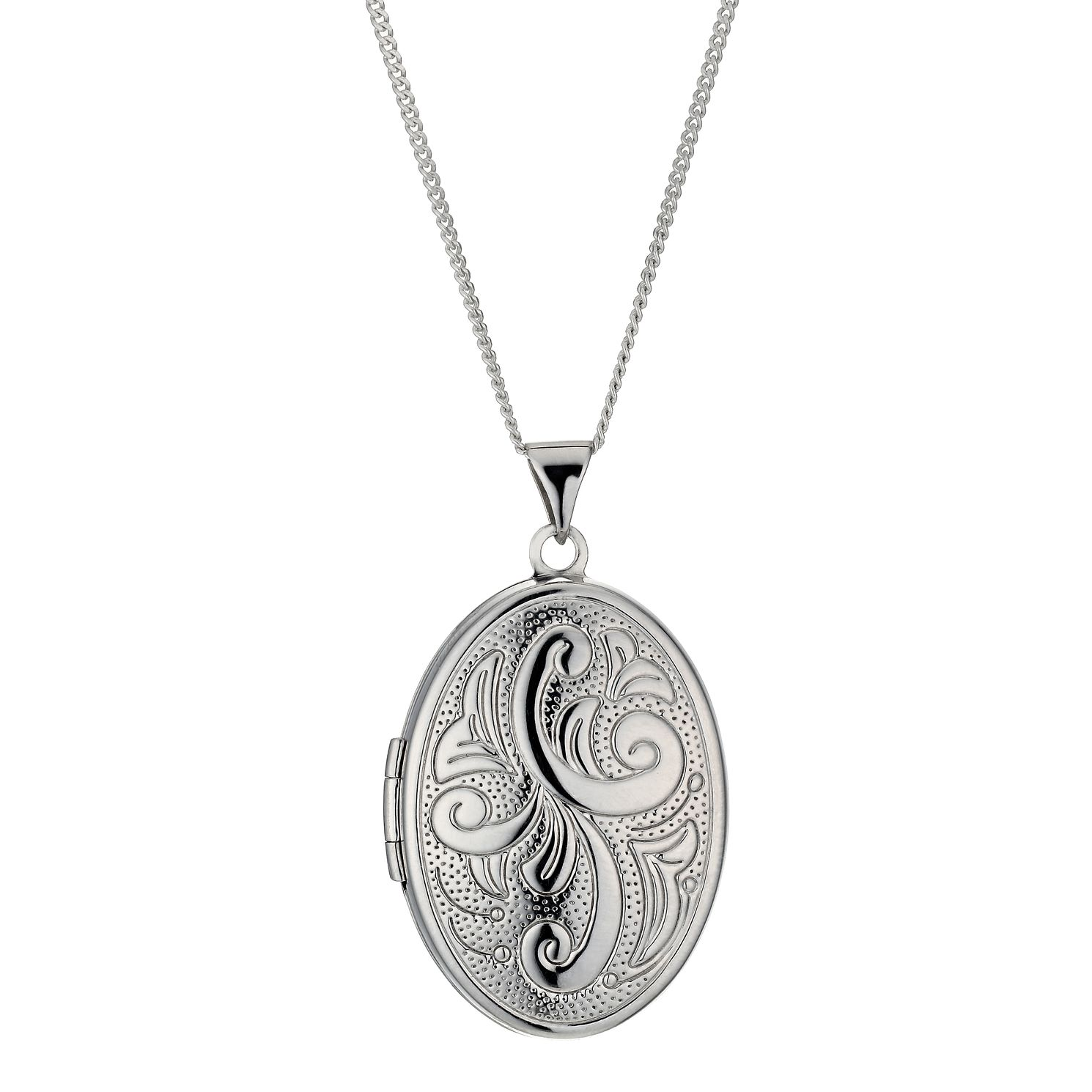Sterling Silver Family Four Leaf Locket - Product number 9995072