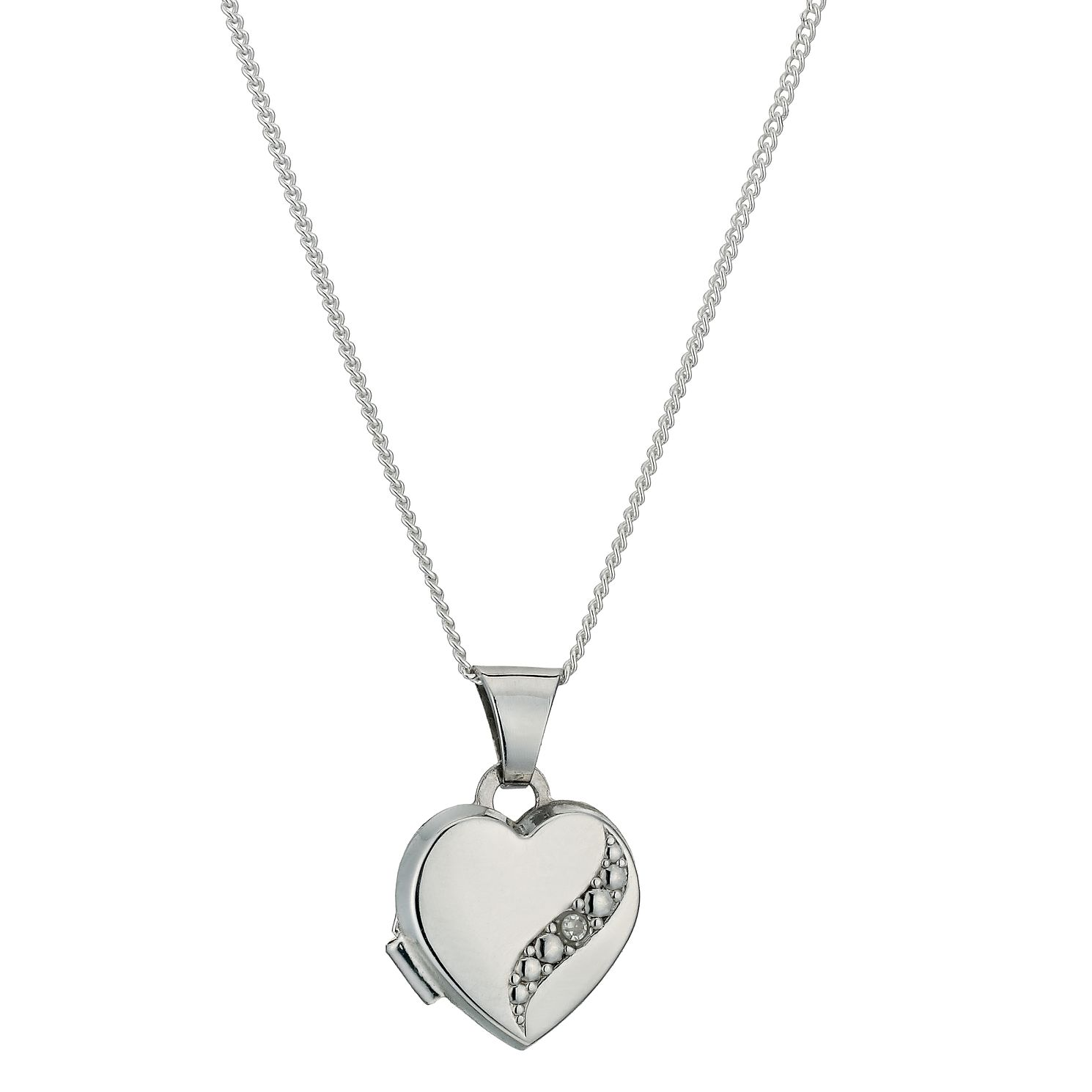 Sterling Silver & Diamond Locket - Product number 9995137